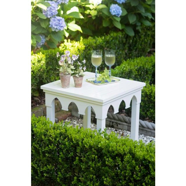 American Oomph Ocean Drive Outdoor Side Table, Taupe For Sale - Image 3 of 5