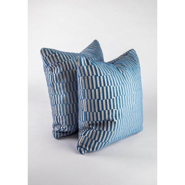 """Contemporary 18""""x 18"""" Geometric Manuel Canovas Down Pillows For Sale - Image 3 of 8"""