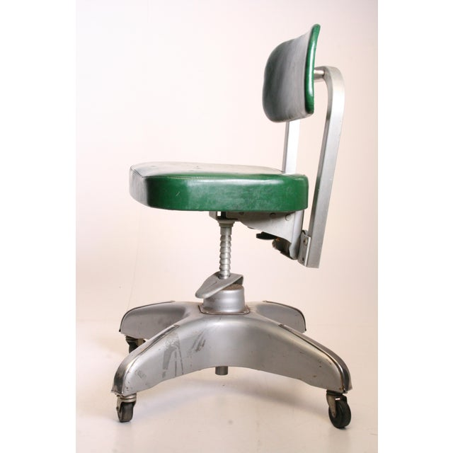 Industrial Vintage Cole Steel Industrial Swivel Office Chair For Sale - Image 3 of 11