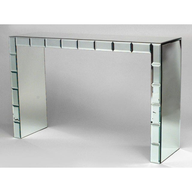 French Art Modern Mirrored Console Table For Sale - Image 4 of 4