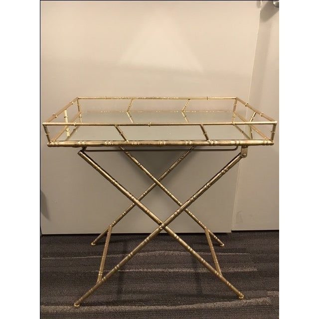 Gold Folding Side Table - Image 2 of 5