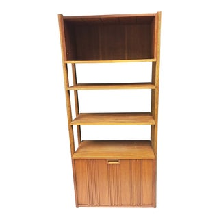 Mid Century Danish Modern Wood Wall Unit