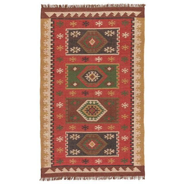 Jaipur Living Amman Handmade Geometric Red/ Gold Area Rug - 5′ × 8′ For Sale In Atlanta - Image 6 of 6