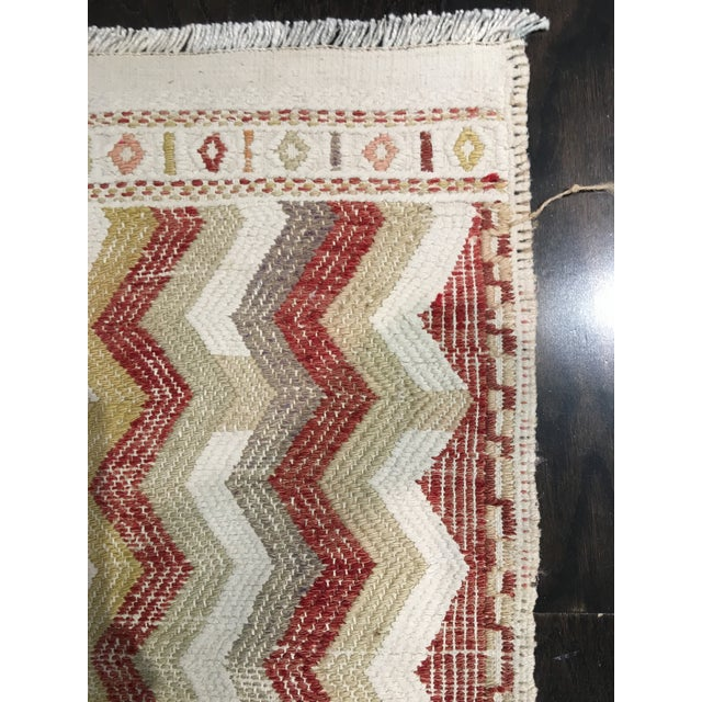 "Vintage Turkish Hemp Weave Kilim Rug- 2'5"" x 7'1"" - Image 6 of 6"