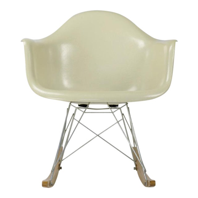 Eames Rocking Chair RAR in Parchment For Sale