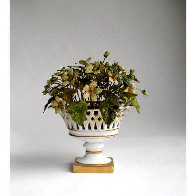 Gorham Silver Co. Jane Hutcheson for Gorham French Style Porcelain Flower Arrangement For Sale - Image 4 of 7