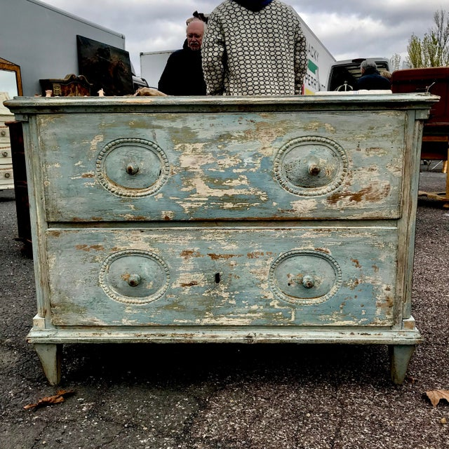19th C. Swedish Painted Chest of Drawers For Sale - Image 4 of 4