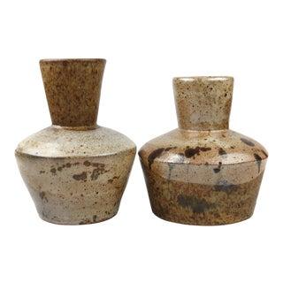 1970s Contemporary Ceramic Studio Pottery Vases - a Pair