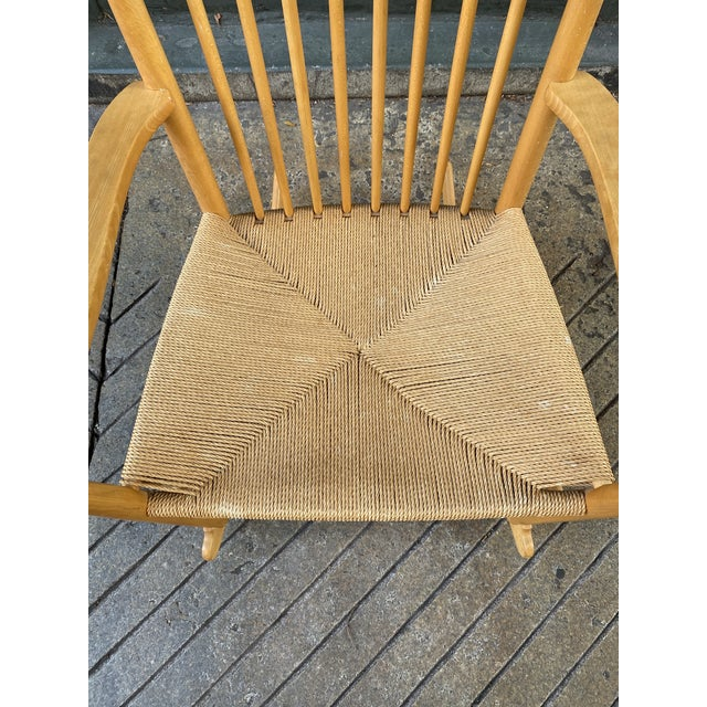Hans Wegner 1960s Vintage Hans Wegner Rocking Chair Model J16 For Sale - Image 4 of 12