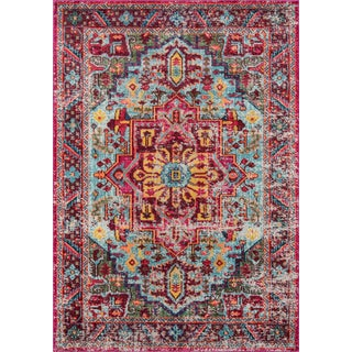 "Traditional Momeni Casa Polypropylene Multi Area Rug - 3'11"" X 5'7"" For Sale"