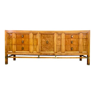 Mid Century Modern Chinoiserie Long 9-Drawer Dresser by Metz For Sale