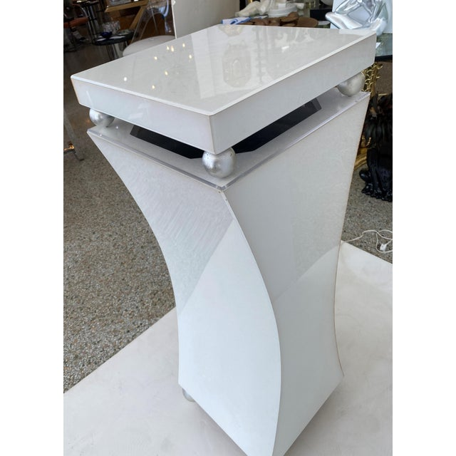 """1980s 40"""" Art Deco Style Illuminated Pedestal For Sale - Image 5 of 13"""