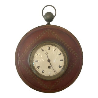 Antique French Tole Clock For Sale
