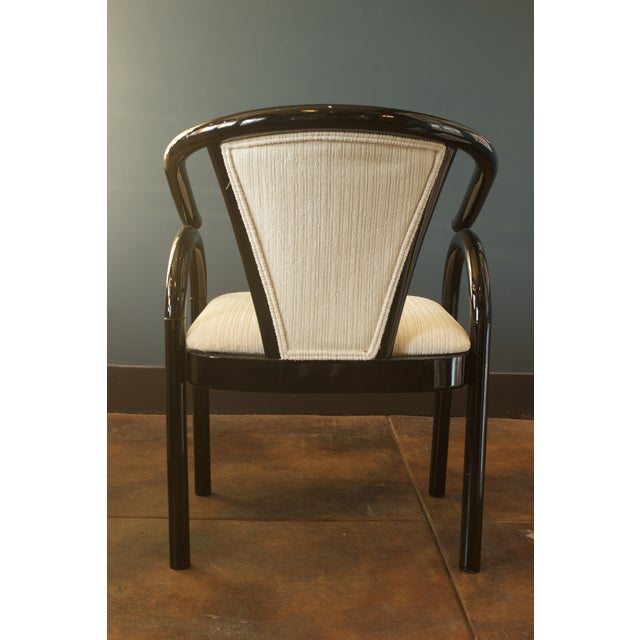 Chinoiserie Black Lacquer Armchair - Image 5 of 6