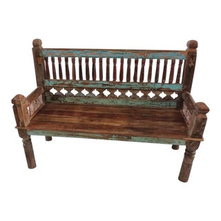 Colonial Architectural Bench For Sale