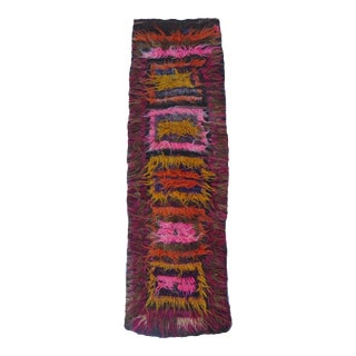 Vintage Angora Abstract Runner For Sale