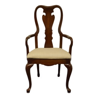 Thomasville Furniture Collectors Cherry Arm Chair For Sale