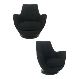 Rock and Swivel Lounge Chairs by Milo Baughman for Thayer Coggin - a Pair For Sale
