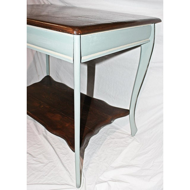 Late 19th Century 19th Century Early American Oak Writing Desk For Sale - Image 5 of 9