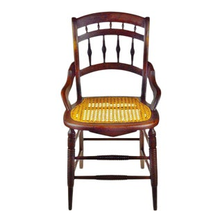 Victorian Cane Seat Chair For Sale