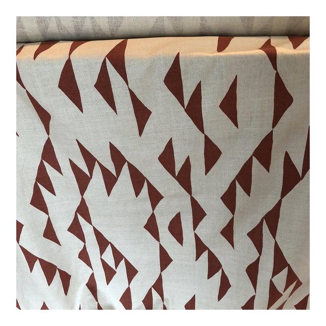 Maroon Print Fabric on Silk For Sale