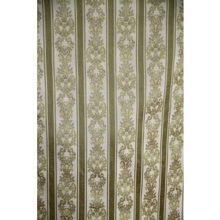 Vintage Luxurious French Damask Woven Drapery or Upholstery Fabric - 8 Yards split into 2 Pieces For Sale