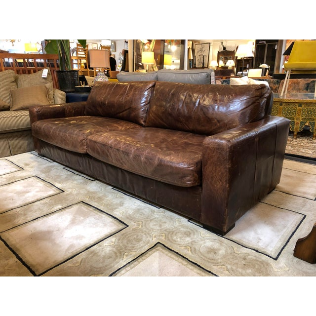 Excellent Maxwell Distressed Leather Sofa By Restoration Hardware Short Links Chair Design For Home Short Linksinfo