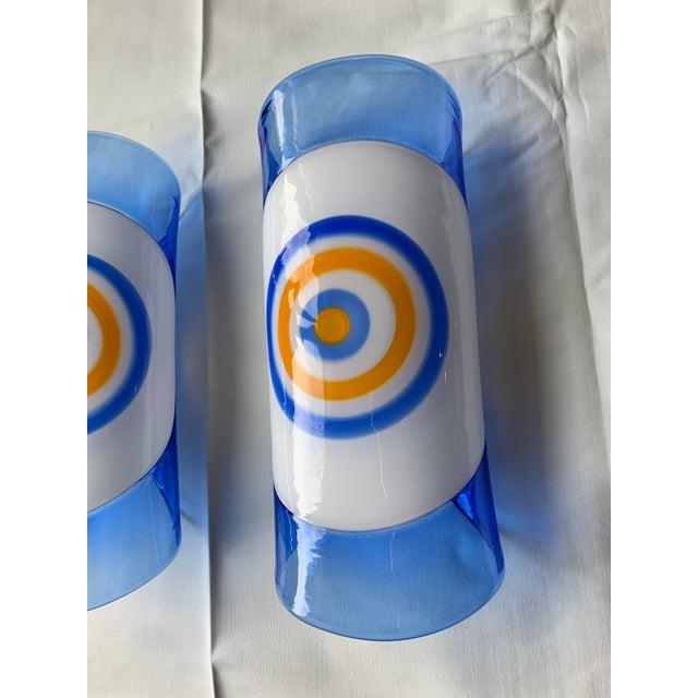 Italian 1970s Vintage Gianmaria Potenza for La Murrina Italian Murano Art Glass Wall Sconces- A Pair For Sale - Image 3 of 12