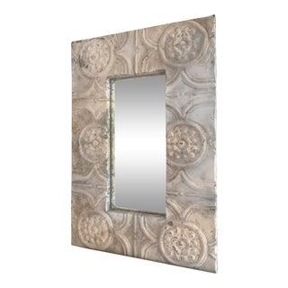 Antique Ceiling Tile Mirror For Sale