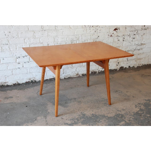 Jens Risom Mid-Century Modern Maple Dining Table For Sale - Image 9 of 11