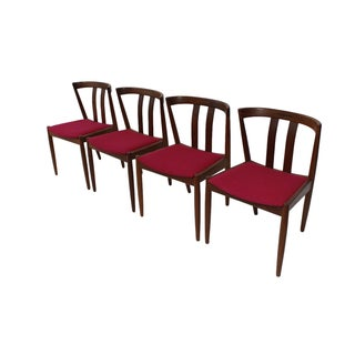 Danish Modern Walnut Dining Chairs - Set of 4 For Sale