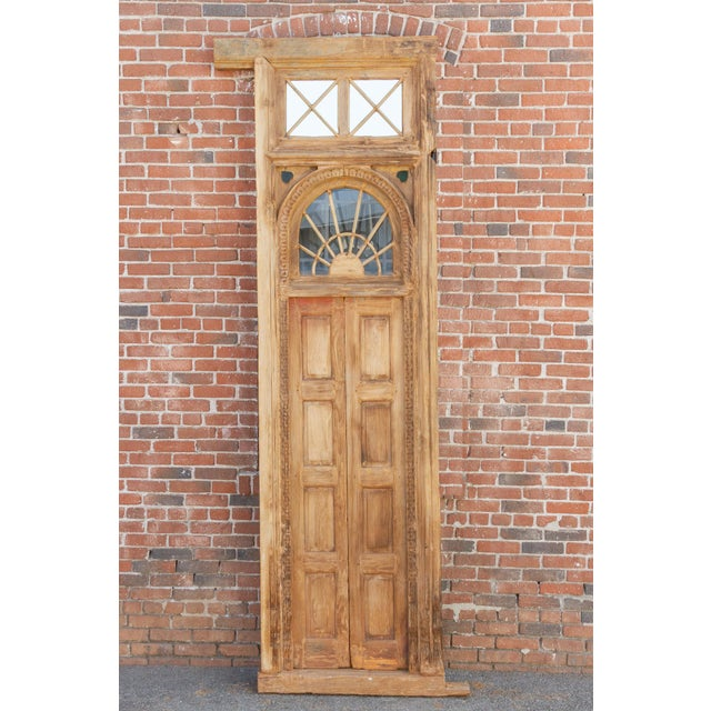 Brown 1800's Indo Portuguese Tall Slim Door For Sale - Image 8 of 11