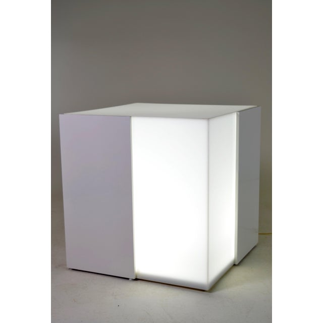 Lighted Lucite and Lacquered Wood Table, circa 1970s - Image 2 of 7