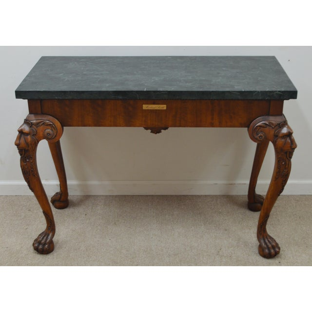Maitland Smith Carved Lion Head Console Table For Sale - Image 12 of 13