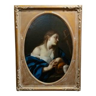 "Italian Old Master ""Penitent Magdalene"" 18th century Oil painting"
