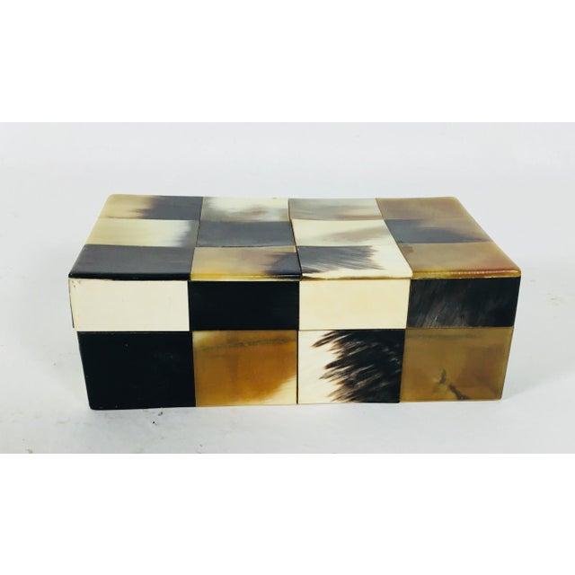 Bone Contemporary Patchwork Bone Dresser Box For Sale - Image 7 of 7