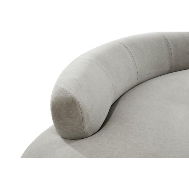 Mohair Cloud Sofa on Walnut Bases by Vladimir Kagan for Directional For Sale - Image 10 of 13