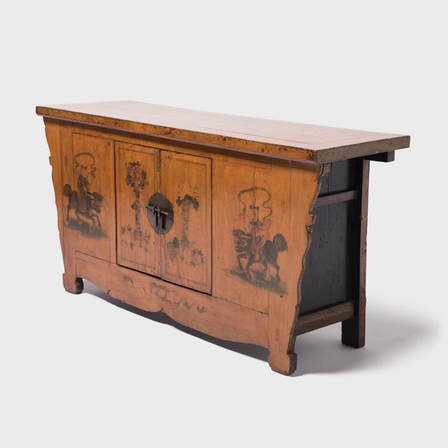 Early 20th Century Qilin Painted Coffer For Sale - Image 5 of 10