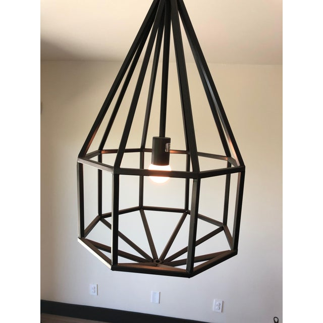 Contemporary Black Teardrop-Shape Lanterns - a Pair For Sale In Los Angeles - Image 6 of 9