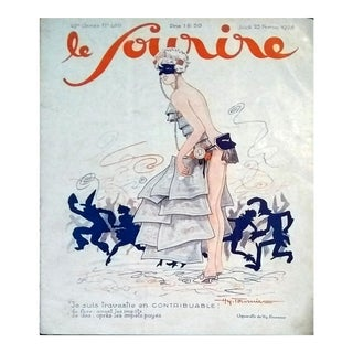 "Henry Fournier 1926 ""Sexy Carnival"" Le Sourire Cover Print"