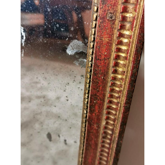 1750 French Louis XVI Gold Leaf Wood Mirror For Sale - Image 10 of 13