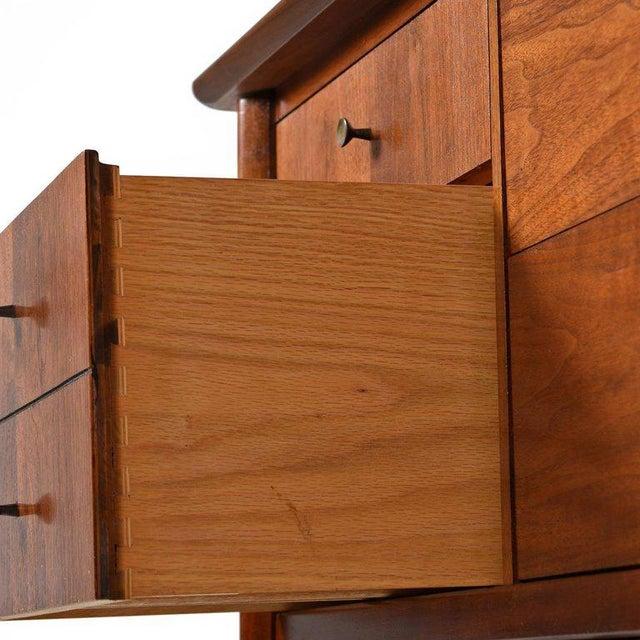 Mid-Century Modern Drexel High Boy Dresser Restored For Sale In Tampa - Image 6 of 7