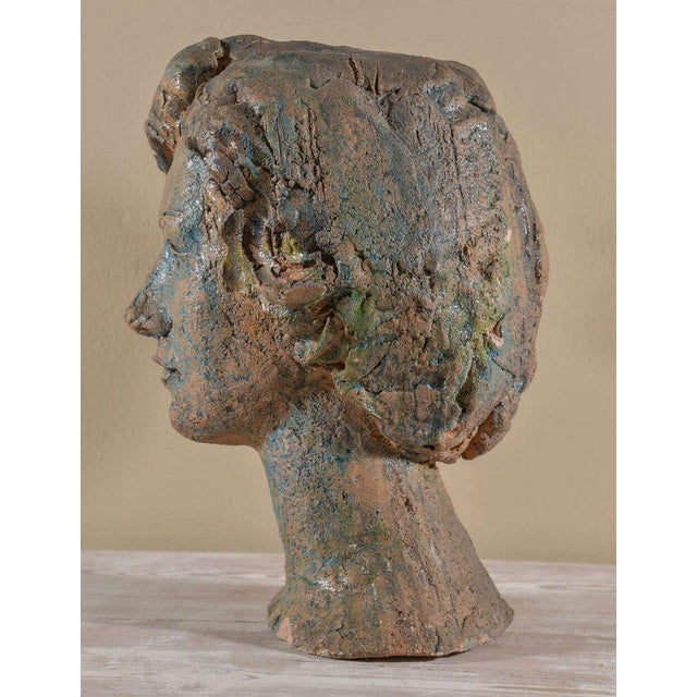 Italian Painted Chalkware Bust For Sale In Houston - Image 6 of 6