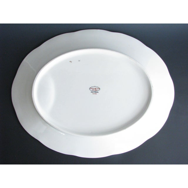 1950s Theodore Haviland New York Leeds Platter and Concord Serving Bowl For Sale - Image 11 of 13