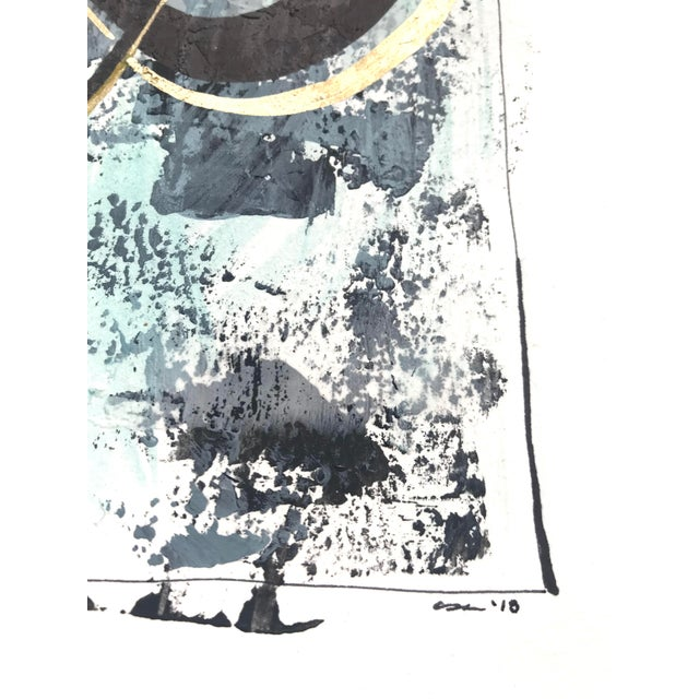 """Modern Original """"Orbits and Comets"""" Mixed Media by Christy Almond For Sale In Charlotte - Image 6 of 12"""