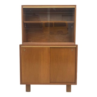 Mid-Century Cabinet With Display Top For Sale