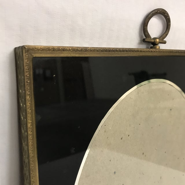 1920s Art Deco Black Glass And Brass Picture Frames Set Of 3