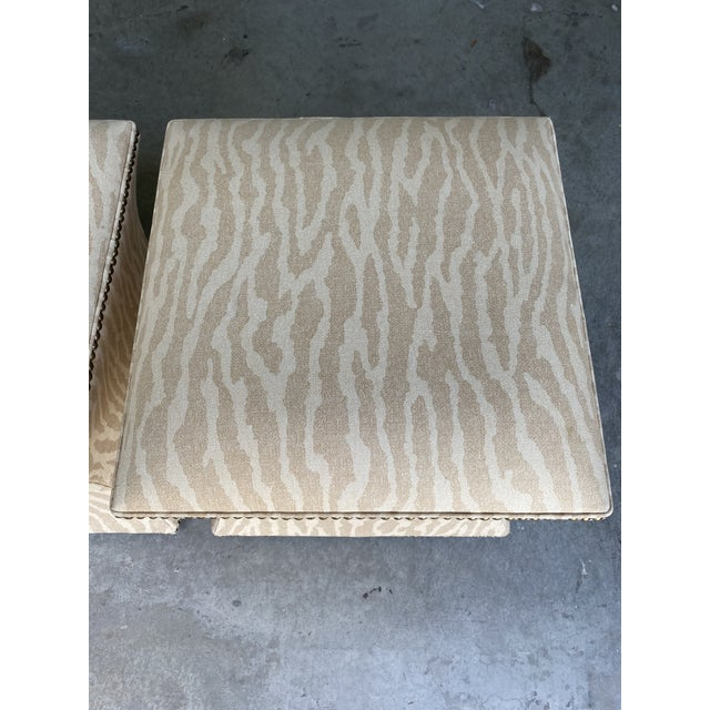 Vintage Contemporary Leopard Ottoman - a Pair For Sale - Image 4 of 6
