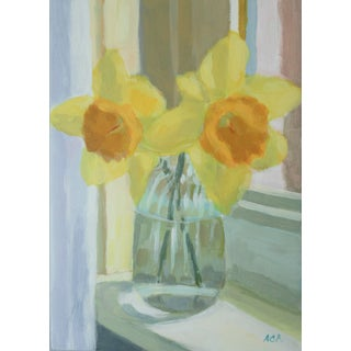 Daffodil on the Windowsill by Anne Carrozza Remick For Sale