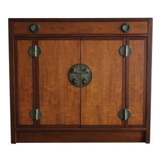Edward Wormley Mahogany and Brass Cabinet for Dunbar Circa 1955 For Sale
